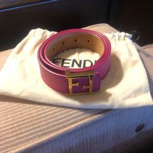 Fendi Accessories - Pink FENDI belt
